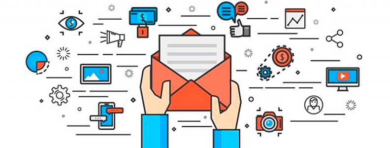 ícones do e-mail marketing
