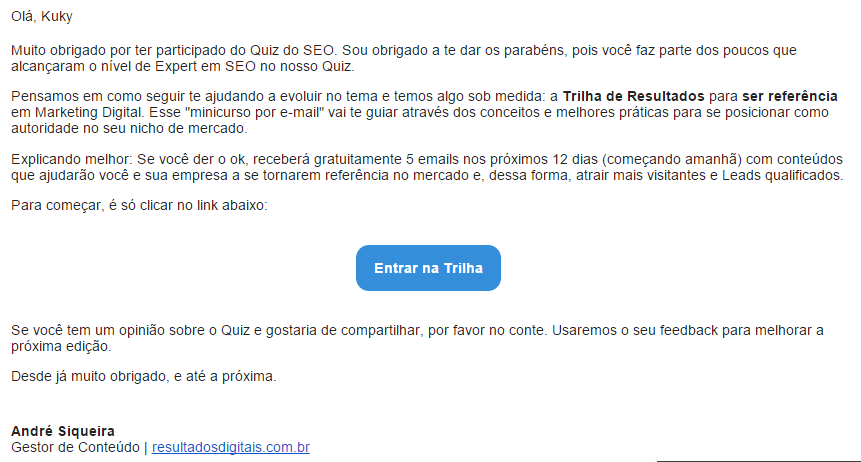 Exemplos de Email Marketing